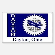 Dayton OH Flag Rectangle Decal