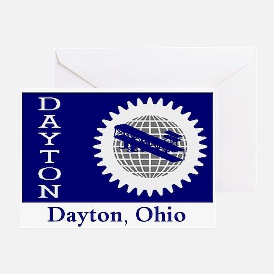 Dayton OH Flag Greeting Card