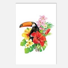 Tropical Toucan Collage Postcards (Package of 8)