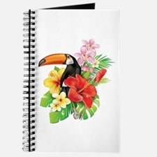 Tropical Toucan Collage Journal
