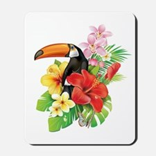 Tropical Toucan Collage Mousepad