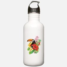 Tropical Toucan Collag Water Bottle