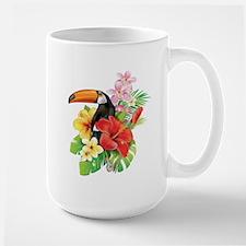 Tropical Toucan Collage Large Mug