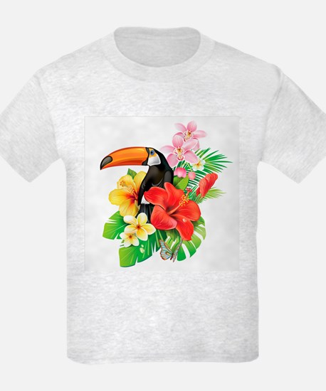 Tropical Toucan Collage T-Shirt