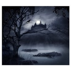 Gothic Night Fantasy Wall Art Framed Print
