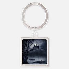 Gothic Night Fantasy Square Keychain