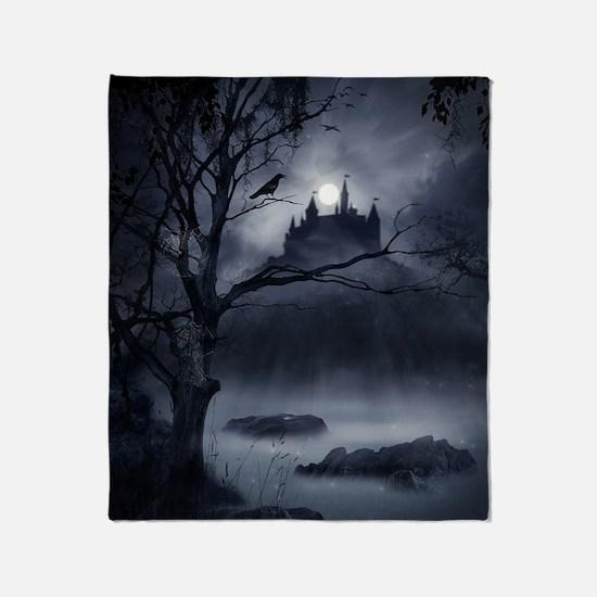 Gothic Night Fantasy Throw Blanket
