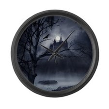 Gothic Night Fantasy Large Wall Clock