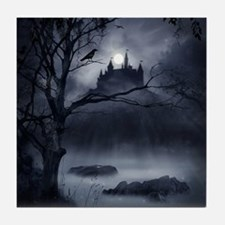 Gothic Night Fantasy Tile Coaster