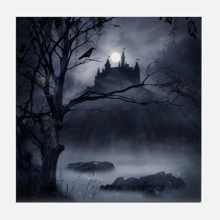 Gothic Night Fantasy Tile Coaster