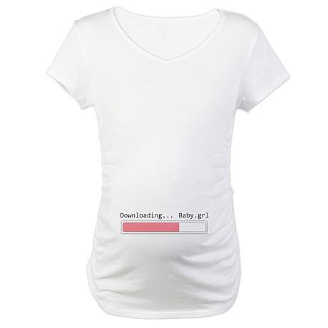 downloading girl Maternity T-Shirt