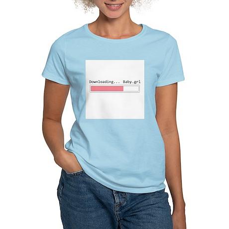 downloading girl Women's Light T-Shirt