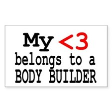 Body Builder Rectangle Decal