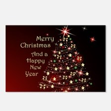 Christmas Tree And Wishes Postcards (Package of 8)