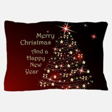 Christmas Tree And Wishes Pillow Case