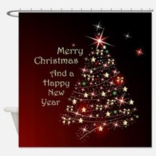 Christmas Tree And Wishes Shower Curtain