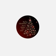 Christmas Tree And Wishes Mini Button (100 pack)