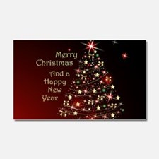 Christmas Tree And Wishes Car Magnet 20 x 12