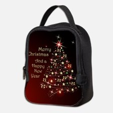 Christmas Tree And Wishes Neoprene Lunch Bag