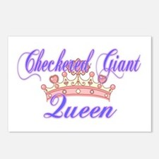 Checkered Giant Queen Postcards (Package of 8)