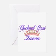 Checkered Giant Queen Greeting Cards
