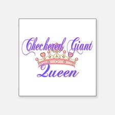 Checkered Giant Queen Sticker