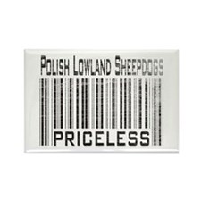 Polish Lowland Sheepdogs Rectangle Magnet (10 pack