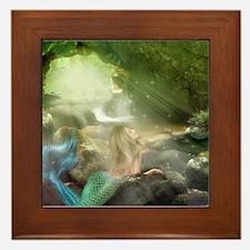 Mermaid Cave Framed Tile