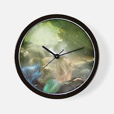 Mermaid Cave Wall Clock