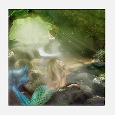 Mermaid Cave Tile Coaster