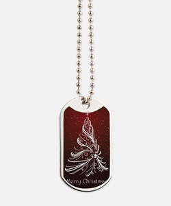 Christmas Tree And Wishes Dog Tags