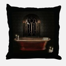 Gothic Bathtub Throw Pillow