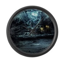 Gothic Landscape Large Wall Clock