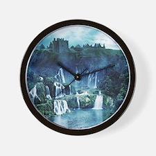 Gothic Ruin Waterfall Wall Clock