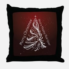 Christmas Tree And Wishes Throw Pillow