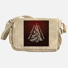Christmas Tree And Wishes Messenger Bag