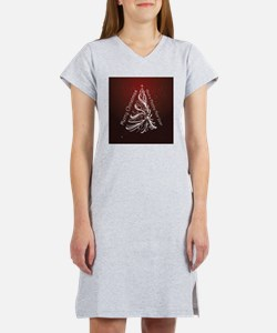 Christmas Tree And Wishes Women's Nightshirt