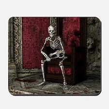 Gothic Waiting Skeleton Mousepad