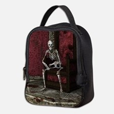 Gothic Waiting Skeleton Neoprene Lunch Bag
