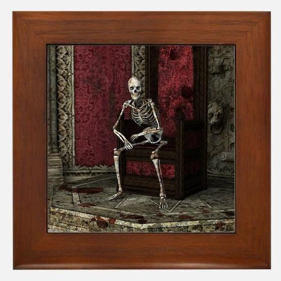 Gothic Waiting Skeleton Framed Tile