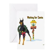 Cute Doberman pincher Greeting Cards (Pk of 20)