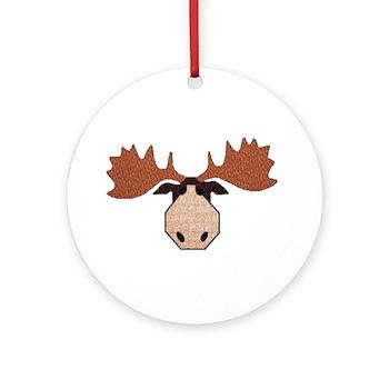 Moose Head Ornament (Round)