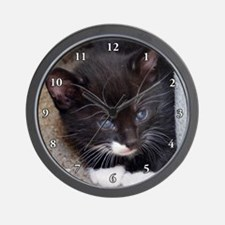 KITTY IN A CORNER Wall Clock