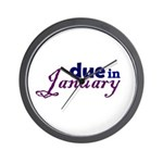 Due in January Wall Clock