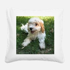 CUTE CAVAPOO PUPPY Square Canvas Pillow