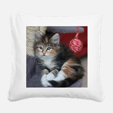 COMFY KITTY Square Canvas Pillow
