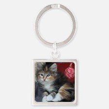 COMFY KITTY Square Keychain