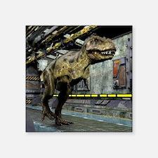 "T-Rex Science Fiction Square Sticker 3"" x 3"""