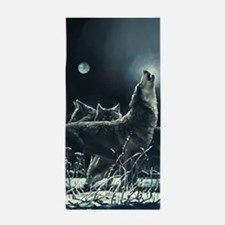 Winter Wolves Beach Towel