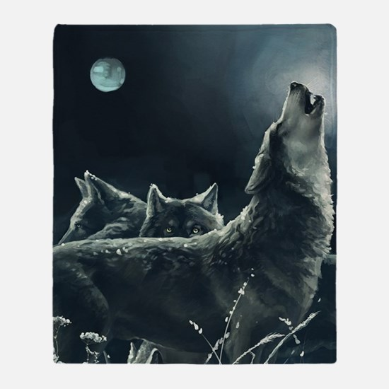 Winter Wolves Throw Blanket